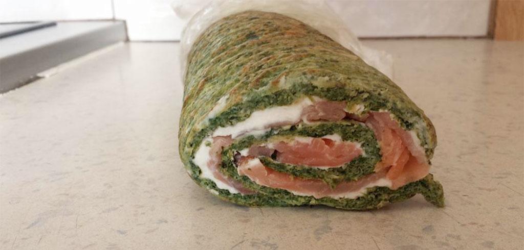 Rezeptbild zu Spinat-Lachsrollade als Abnehmrezept und zum Fettabbau