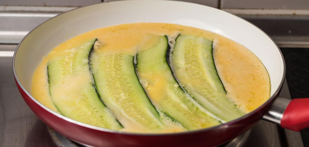 Rezeptbild zu Zucchini Omlette als Abnehmrezept und zum Fettabbau