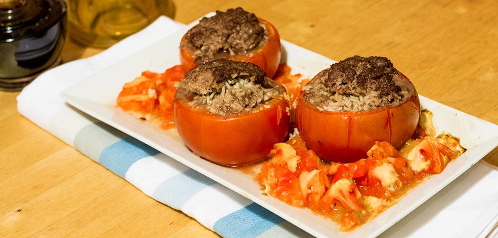 Rezeptbild zu Gefüllte Tomaten mit Hackfleisch als Abnehmrezept und zum Fettabbau