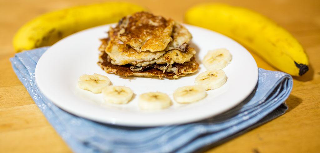Rezeptbild zu Protein Bananen Pancakes als Abnehmrezept und zum Fettabbau