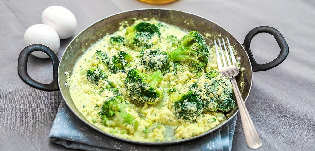 Rezeptbild zu Brokkoli-Omelette als Abnehmrezept und zum Fettabbau