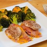 Vorschaubild für  Low Carb Cordon Bleu Schnitzel mit Brokkoli