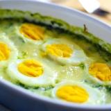 Vorschaubild für Spinatgratin mit Eiern und Parmesan