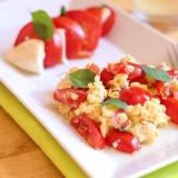 Vorschaubild für Tomaten-Rührei mit Mozzarella