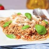 Vorschaubild für Spaghetti mit Soja-Bolognese (vegan)