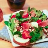 Vorschaubild für Feldsalat mit Seranoschinken, Tomaten und Champions