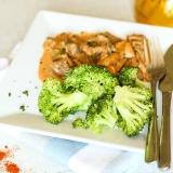 Vorschaubild für Brokkoliröschen mit Rindgeschnetzeltem in köstlicher Paprikasoße