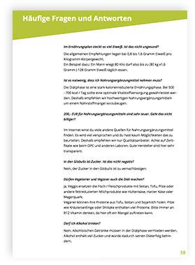 FAQ für den Ernährungsplan