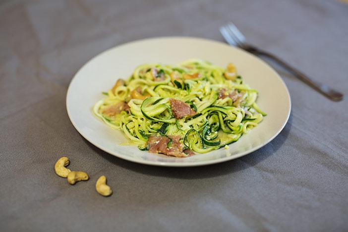 Spaghetti Carbonara als Low Carb Variante